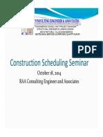 Construction Scheduling Seminar