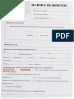 SOLICITUD DE BENEFICIO FPS
