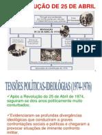 Tensões Político Ideológicas 1974 1976