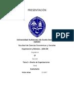 Control de Lectura - Tema 3. Diseño de Organizaciones - Victor Arias Ci-8867 Adm-336 o&m Sección 07