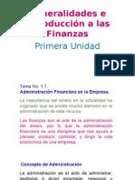 1. Generalidades e Introducción a Las Finanzas