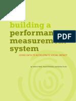 Building a Performance Measurement System