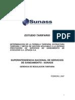 Estudio Tarifario Epsasa Ayacucho