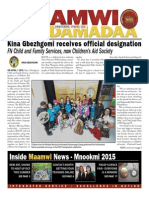 Maamwi Naadamadaa News Spring 2015