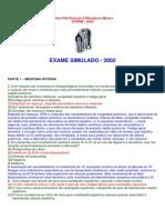 Simulado 2002.1 CPSRM - Comentários Mi e Cirurgia 2002