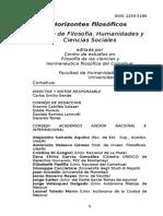 Revista Horizontes Filosóficos. Normas de Edición