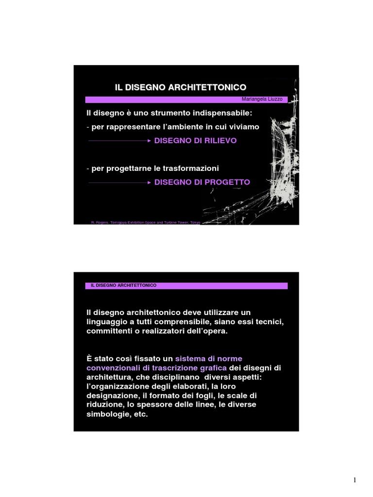 Manuale Di Disegno Architettonico.Il Disegno Architettonico