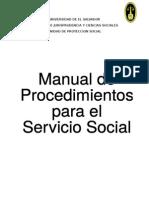 Manual de Procedimientos Para El Servicio Social