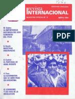 Revista Internacional - Nuestra Epoca N°5 - mayo 1981 - Edición Chilena