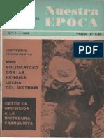 Revista Internacional - Nuestra Epoca N°1 - enero 1966 - Edición Chilena