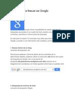 12 Trucos Para Buscar en Google