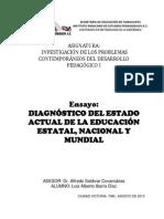Ensayo Lusi Ibarra Diagnóstico Del Estado Actual de La Educación Estatal
