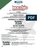 Pinocchio Musical Casting audizioni e cast ufficiale