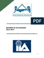 Informe de Actividades de Transparencia IAI-Honduras 2013-2014