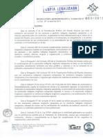 Certificado de Viabilidad Gubernativa para el Municipio de Corque, Oruro