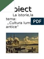 Cultura lumii antice