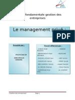 Polycopié Management Privée II ( Version Finale )