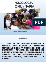 Diapositiva Psicologia Comunitaria