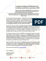 [NOTA DE PRENSA] Colectivo Unión Civil ¡YA! saluda el Nuevo plan estratégico del Ministerio de Justicia el cual incluye protección a personas LGTB