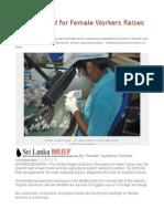 Sri Lanka Bid for Female Workers Raises Questions