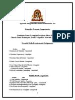 evangelism program competencies