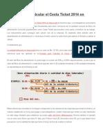 Fórmula Para Calcular El Cesta Ticket 2014 en Venezuela