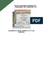 Construccion Del Diagrama Pourbaix Del Cromo en El Programa Hsc Chemistry 5