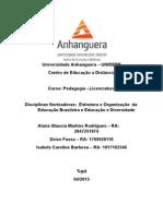 Desafio Profissional Educação e Diversidade e Estrutura e Organização da Educação Brasileira