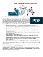 2015 eddies youth baseball & softball clinics