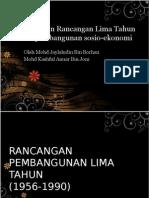 Kepentingan Rancangan Lima Tahun Dalam Pembangunan Sosio-ekonomi