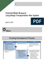 Potential long-range plan & ballot measure update for COGS
