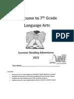 argyle grade 7 summer reading assignment 2015