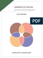 2013 Framework for Teaching Evaluation Instrument