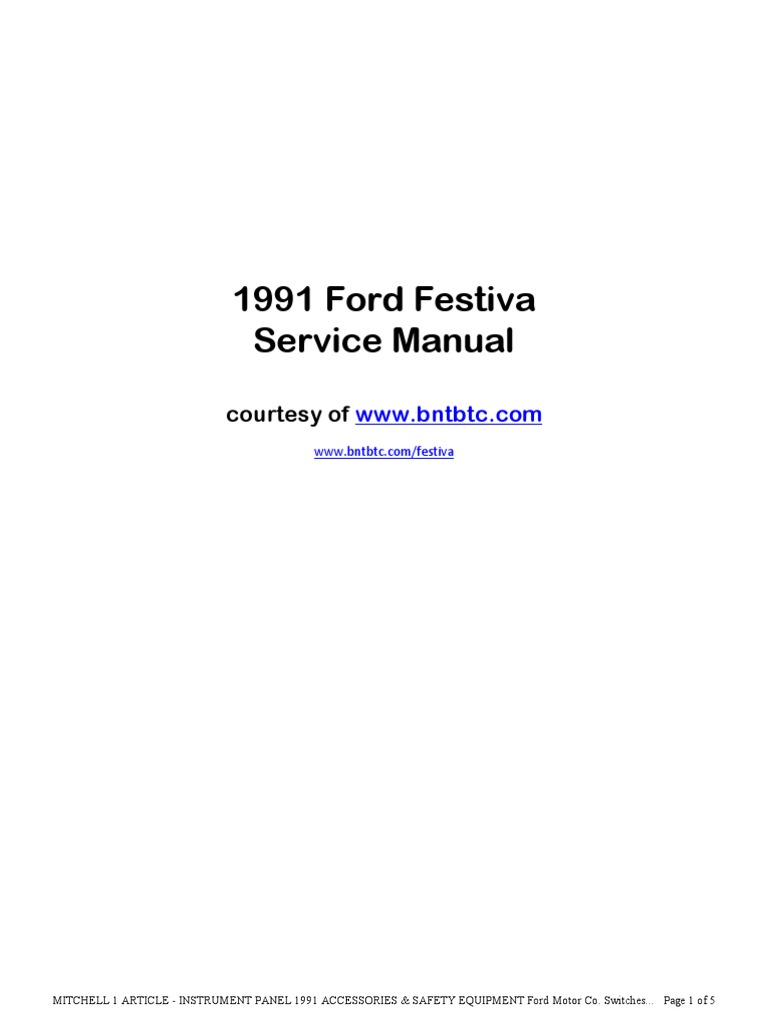 1991 Ford Ranger Ignition Wiring Diagram Trusted Diagrams 91 Festiva Explained 94
