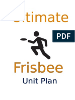 Ultimate Frisbee Unit Plan 1