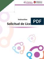 Instructivo Solicitud de Licencias