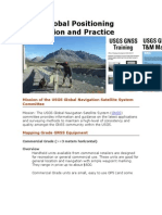 USGS Global Positioning Application and Practice