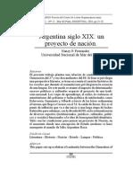 Arg S XIX_un Proyecto de Nacion