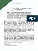 Biomech Analysis of Knee