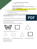 maths assessment differntiated