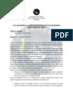 Acta 1ra Asamblea de Carrera 2015