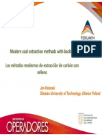 MODERN COAL EXTRACTION METHODS WITH BACKFILL - LOS METODOS MODERNOS DE EXTRACCION DE CARBON CON RELLENO