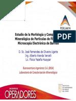 Estudio de la Morfología y Composición Mineralógica de Partículas de Filtro Por Microscopía Electrónica de Barrido
