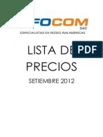 Lista de Precios Setiembre 2012 Wifi