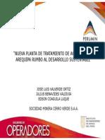 NUEVA PLANTA DE TRATAMIENTO DE AGUA POTABLE, AREQUIPA RUMBO AL DESARROLLO SUSTENTABLE
