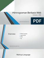 Pemrograman Berbasis Web 2 - HTML