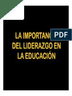 Liderazgo y Educacion
