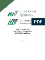 2015 Concurrent Enrollment Report