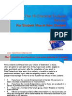 The 16 Checklist to Avoid Student Visa Refusal
