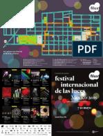 Mapa recorrido del Festival Internacional de las Luces